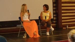 2014-08-23 Emily Maynard at Teen Reach Retreat w- LisaT